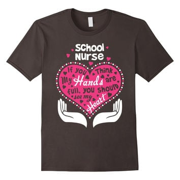 School Nurse Full Heart T Shirt