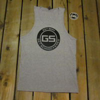 CLASSIC BLACK ON GREY - MEN'S TANK TOP
