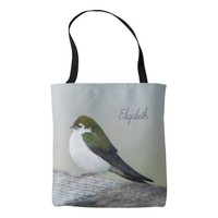 Violet-Green Swallow Tote Bag