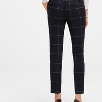 Petite Refined Windowpane Ankle Pants | Ann Taylor