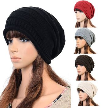 Women Hip Hop Warm Beanies Cotton Casual Hat 0919-03