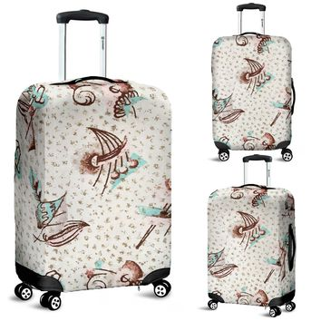 Luggage Cover Mid Century Modern Design Travel Suitcase Protective Cover