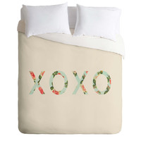 Allyson Johnson Floral XOXO Duvet Cover