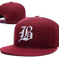 HAIHONG Beartooth Band Logo Adjustable Snapback Embroidery Hats Caps - Red