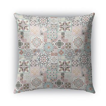 MOROCCAN TILES WITH ROSE GOLD Indoor|Outdoor Pillow By Pip & Lulu