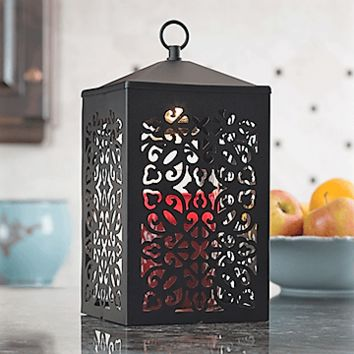 Black Scroll Lantern Candle Warmer