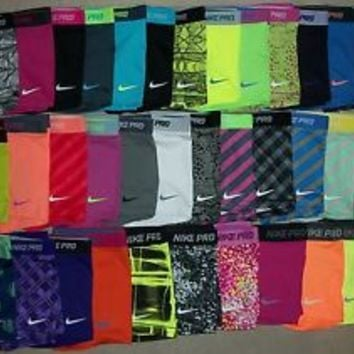 "Nike Pro Core Essential Compression Shorts 2.5"" (1-Pair) Spandex Yoga Tights"