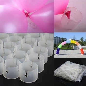 50 Decorative Easily Balloons Connectors Clips DIY Arches Wedding Party Prom = 1933176324
