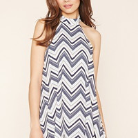 Contemporary Chevron Dress | LOVE21 - 2000221495