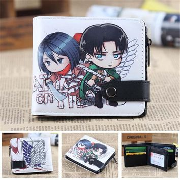 Cool Attack on Titan  Wallet Cartoon Design Cute Wallet for Children Birthday Gifts AT_90_11