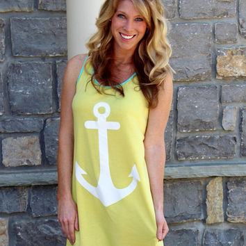 Anchor's Up Cover Up Yellow