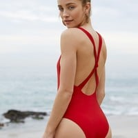 Loverbird Knotted One Piece Swimsuit at PacSun.com