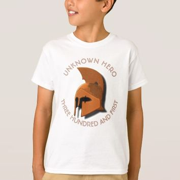 Unknown Spartan 301th Hero Greek Helmet T-Shirt