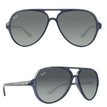 Kalete NEW Rayban Cats 5000 sunglasses RB4125 630371 59 Blue Grey Gradient 4125 gray