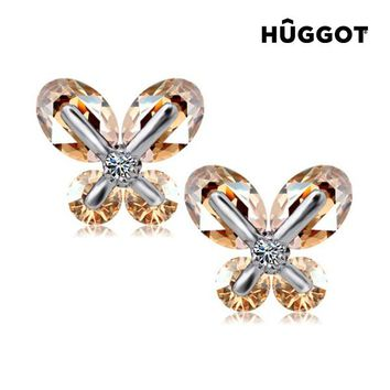 Hûggot TinkerBell Rhodium-Plated Earrings with Zircons