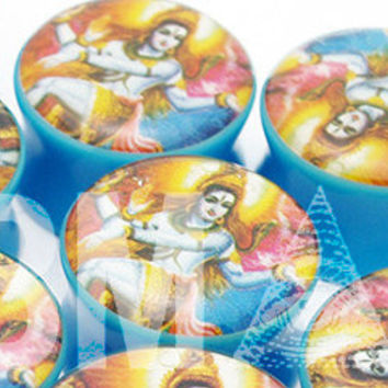 """7/8"""" (22mm) Shiva BMA Modified Plugs Pair for Thick Lobes"""