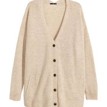 H&M Wide-cut Wool-blend Cardigan $34.95