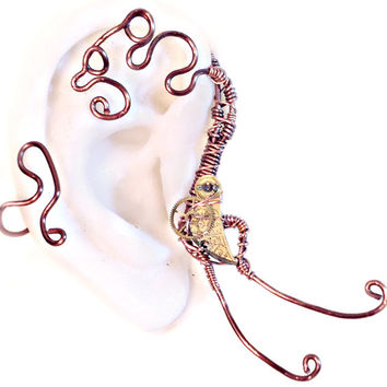 Copper Steampunk Ear Wrap