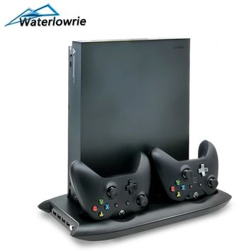 Waterlowrie Vertical Stand Cooling Fan with Dual Charging Station Controller charger For Microsoft Xbox One X Scorpio Console