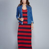 Striped Racerback Maxi Dress | Wet Seal