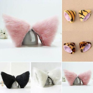 ICIKWJ7 Night Party Club Ball Wearing Deacorate Cat Fox Fur Ear Pattern Hair Clip Bell