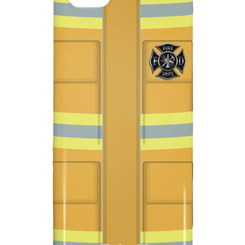 Firefighter Yellow AOP iphone 5C Plastic Case All Over Print