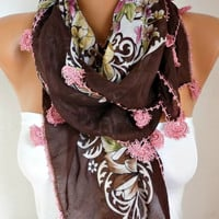 Spring Turkish Floral Scarf Mother's Day Gift Cotton Oya Yemeni Cowl Necklace Gift Ideas For Her Women Fashion Accessories