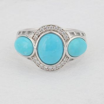 Natural Turquoise, Beautiful Design, Sterling Silver Ring