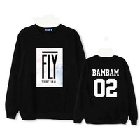 GOT7 GOT 7 Seven FLY In Seoul BamBam sweatshirt Sweater Korea KPOP  shirt concert cd album SQ12017 Black