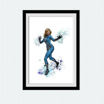Fantastic Four art print The Invisible Woman poster Fantastic Four wall decor Home decoration Kids room wall art Marvel poster art W451