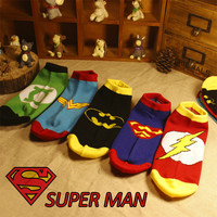 35-42 MARVEL DC Socks Hero Logo Power Green Lantern Wonder Woman The Flash Family Man Batman Superman Dark Knight Justice League