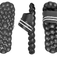 Swiss Wear Deluxe Comfort Solarsoft Massage Slippers Slides