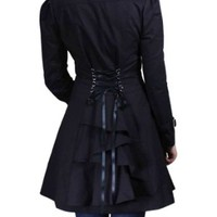 Corset Backed Ruffled Jacket