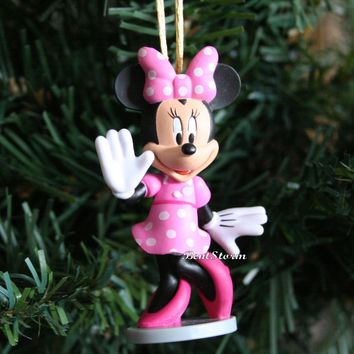 Licensed cool Disney Mickey Mouse Clubhouse Carwash Pink Minnie Christmas Ornament PVC Figure