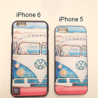 Vintage VW Van iPhone Cases (iPhone 5 and iPhone 6) - Retro, 1960s Hippie BoHo Phone Case