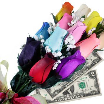 Rainbow Bouquet | Cash Roses®