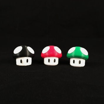 Mario Power-up 1up Mushroom 3D Printed Custom Colors