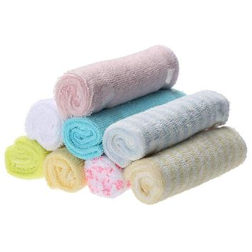 8pcs/Lot Multifuctional Baby Infants Cotton Feeding Towel Kids Handkerchiefs Headband Face Hand Bathing Towel Small Square Shape