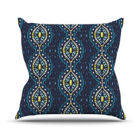"Suzie Tremel ""Ogee Lace"" Navy Blue Outdoor Throw Pillow"