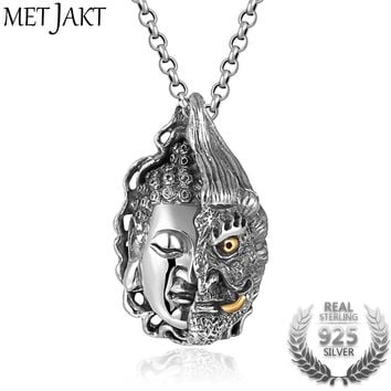 Buddha and Other Pendant Solid 925 Sterling Silver Pendant for Necklace
