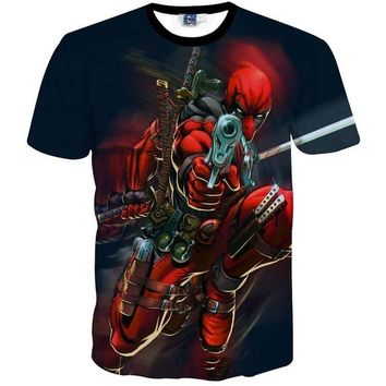 Deadpool - Shooting at You 3D T-Shirt