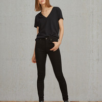 Silver High Rise Skinny Jeans