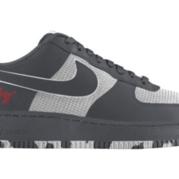 Nike Air Force 1 Low iD Custom Girls' Shoes 3.5y-6y - Grey