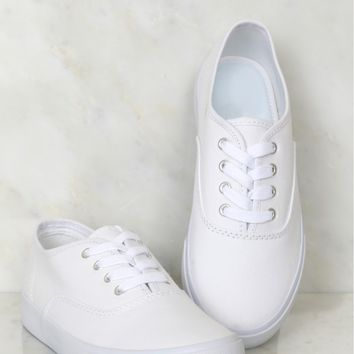 Blank Canvas Sneakers White