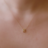 Initial necklace, Letter necklace, Delicate necklace, Simple Tiny necklace, Bridsemaid necklace, Minimalist