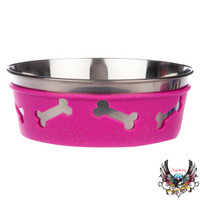Bret Michaels Pets Rock™ Bone Dog Bowl | Food & Water Bowls | PetSmart
