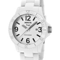 Invicta 1207 Watches,Women's Angel White Dial White Plastic, Casual Invicta Quartz Watches