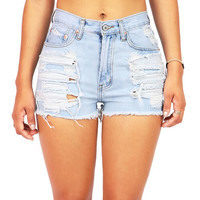 Beachbum High Waist Shorts