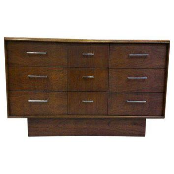 Pre-owned Mid-Century Lane Co. False Triple Credenza Dresser