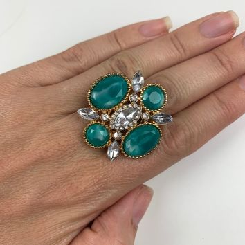 Night Out Cocktail Ring (turquoise)